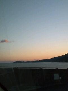 2008年最後の夕日